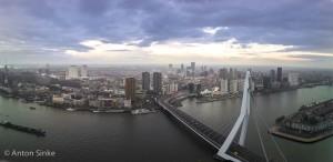 Rotterdam vanaf de Rotterdam-